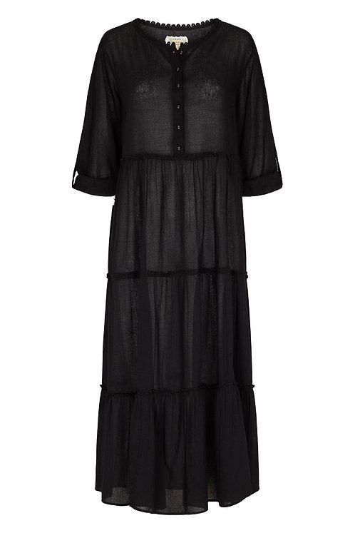 3811L-1 - Long Gauge dress - Black