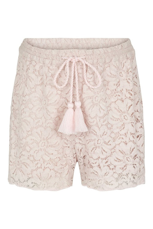 Cotton Lace Shorts - Mauve