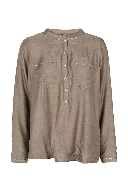2598J - Viscose/cotton shirt - Nougat