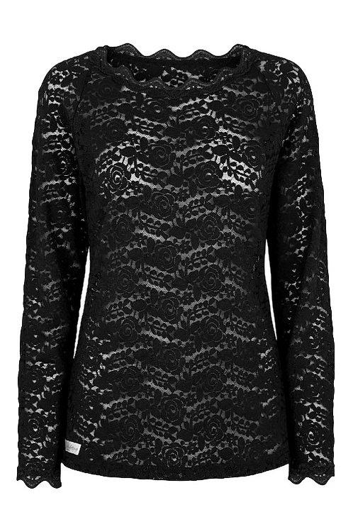 2831L - Lace blouse - Black