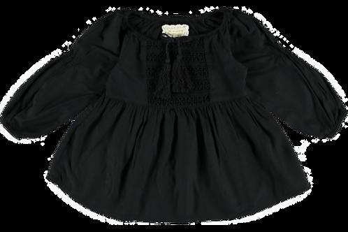 2274L - Tunica w.lace - Black