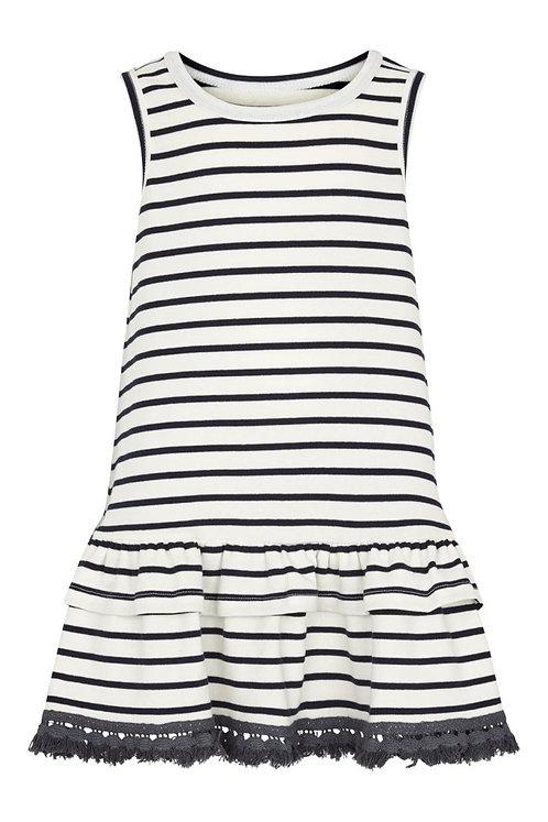Striped Dress w.frill