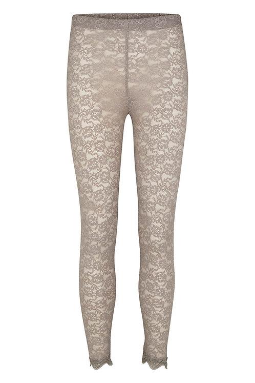3335J - Lace legging - Silk mink