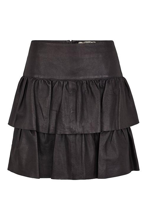 3514L - Skirt in Lamb leather - Black