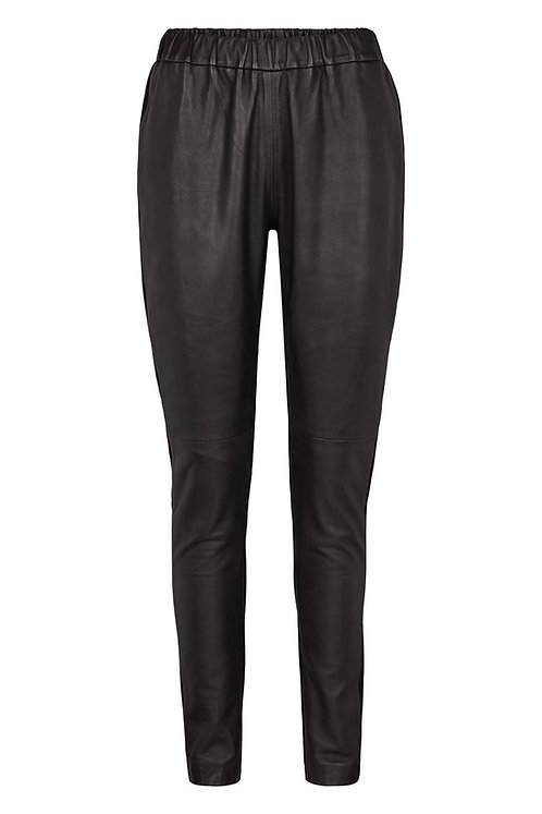 3620L - Legging in Lamb leather - Black