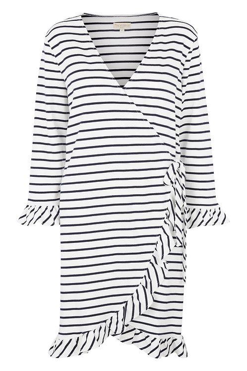 3549 - Wrap around dress - Stripe