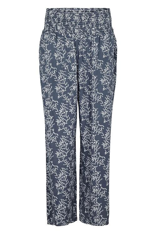 3607K - Wide pants - Grey/blue Print