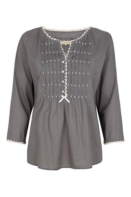 2751K - Cotton shirt - Granit grey