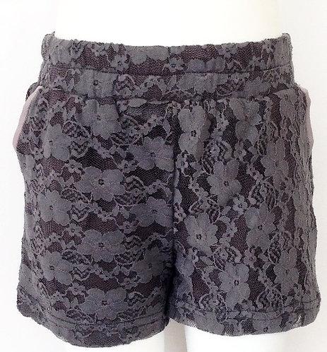 3534K - Lace shorts - Iron Grey