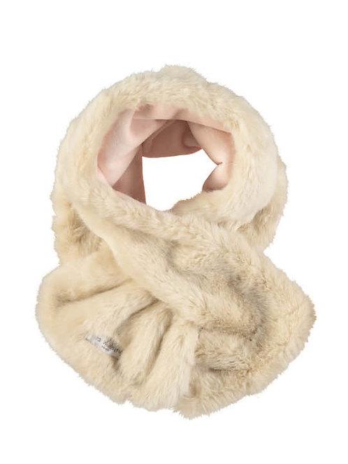 """fur"" scarf - Beige/rosa"