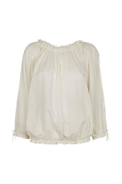 2441 - Shirt w.smock - Off-white