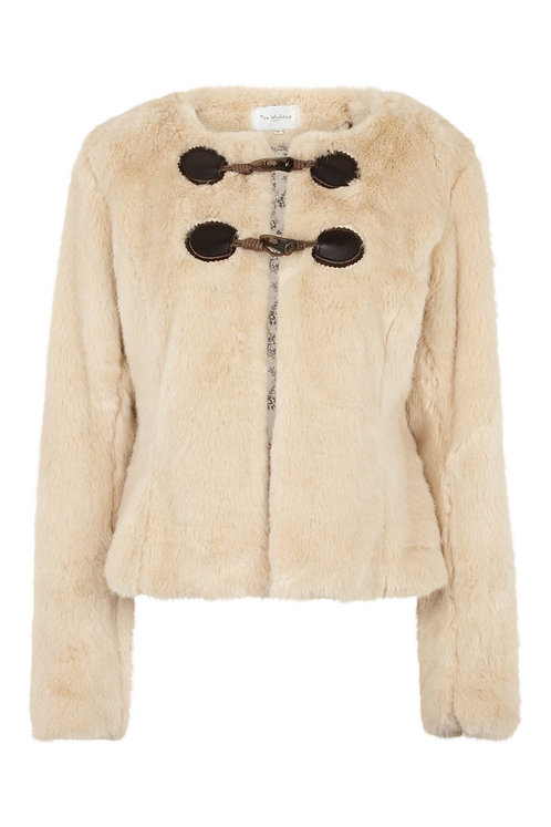 2812B - Faux fur jacket - Beige