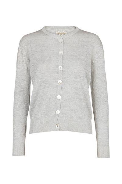 2407A - Silver knit cardigan