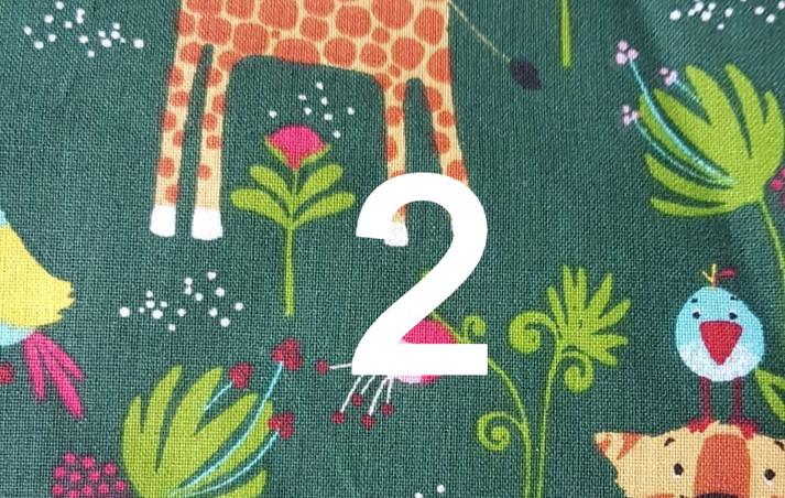 Tissu jungle vert 2