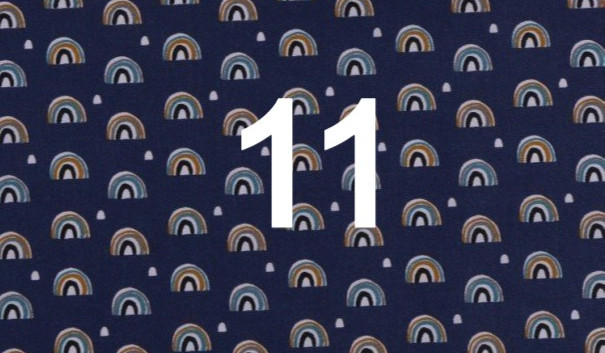 Tissu arc en ciel bleu 11