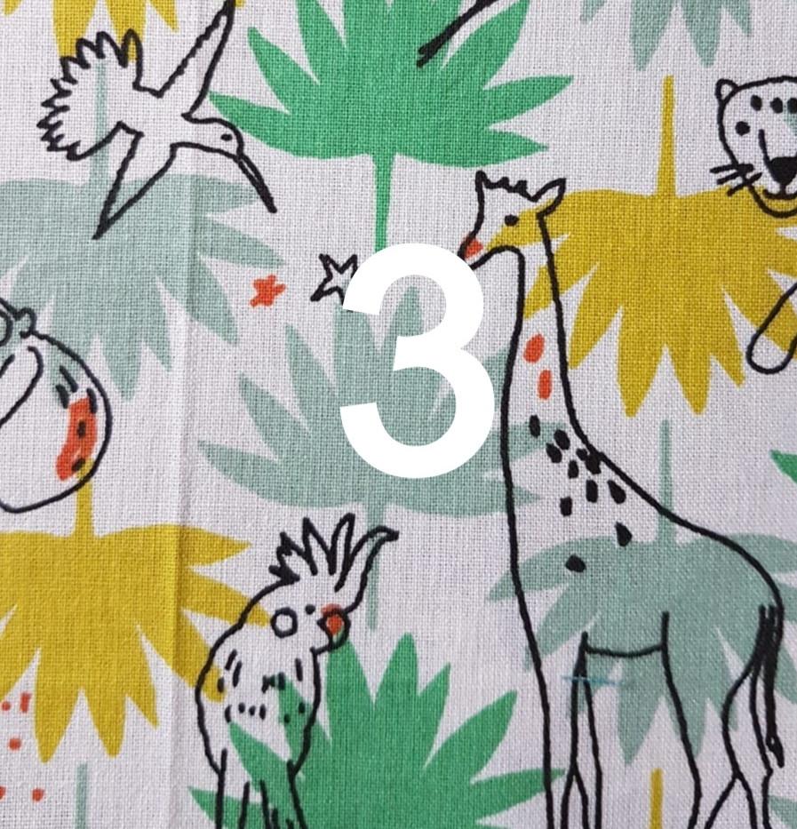 Tissu jungle blanc 3