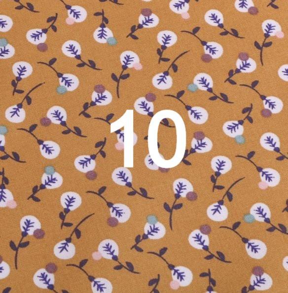 Tissu moutarde 10