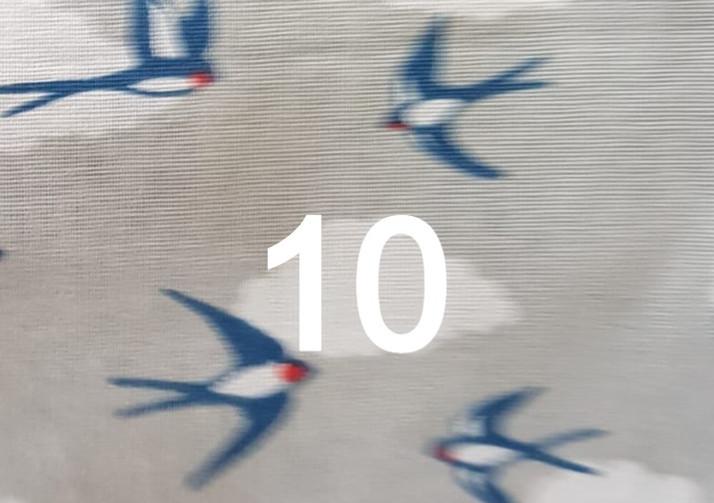 10. Tissu hirondelle