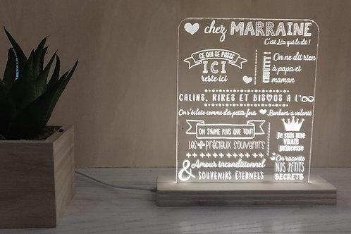 """4 petites lampes gravées """"Famille"""""""