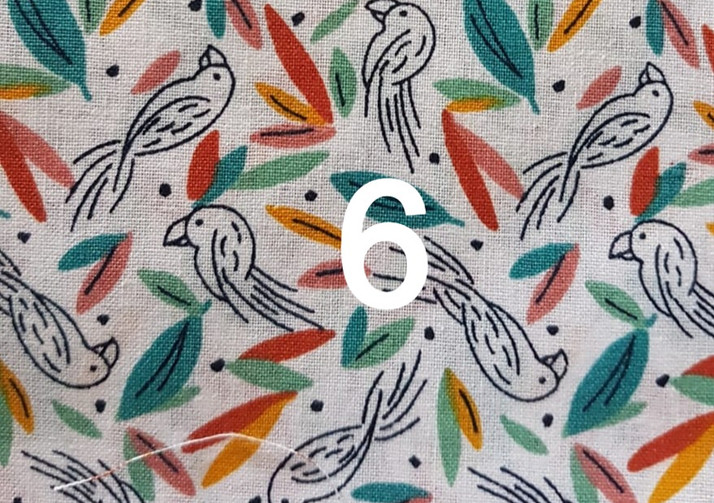 6. Tissu perroquet