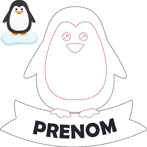 Plaque de porte : Pinguin