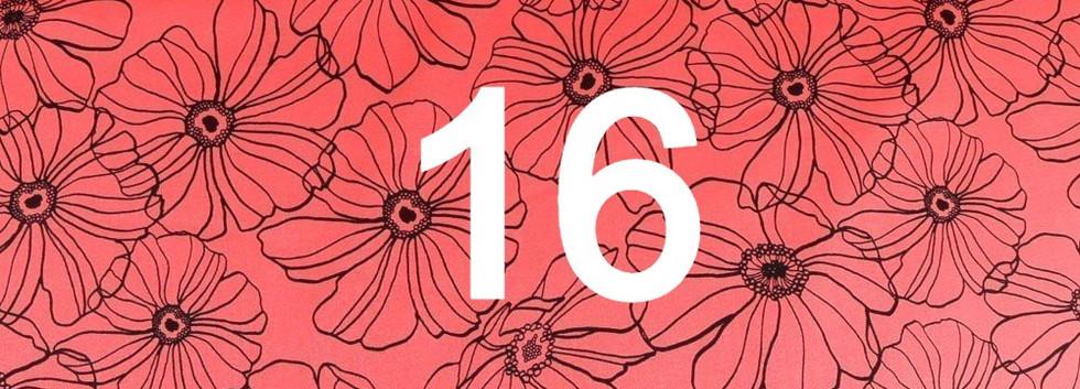 Tissu fleur rouge 16