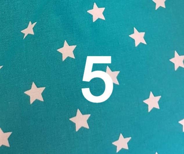 Tissu étoile vert 5