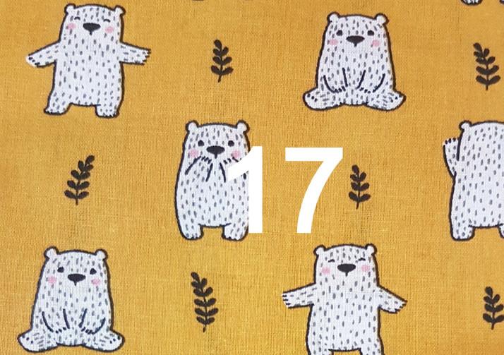 tissu ours jaune moutarde 17