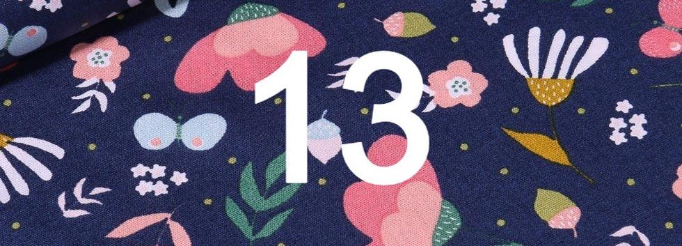 Tissu fleuri bleu 13