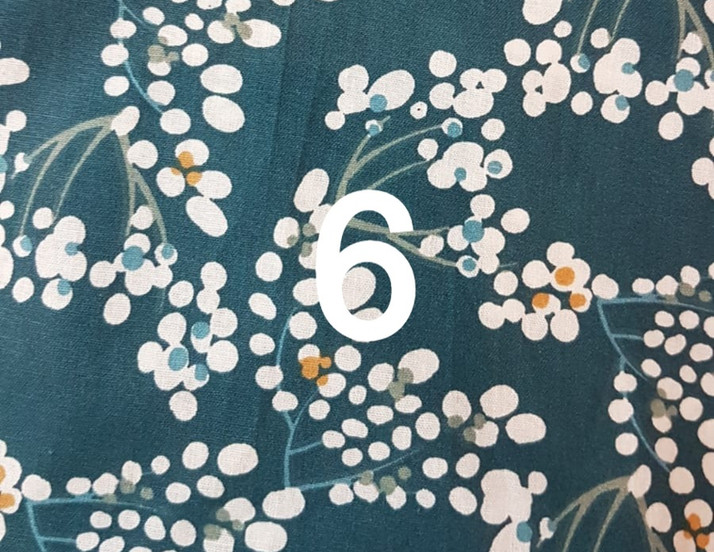 Tissu bleu canard japonais 6