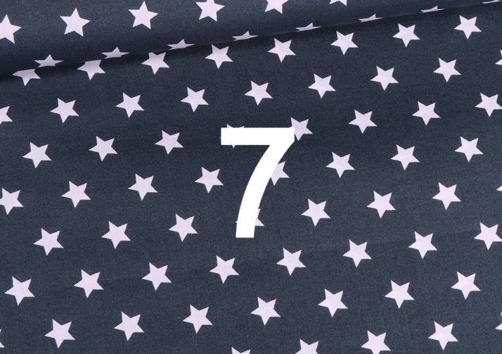 Tissu étoile bleu foncé 7