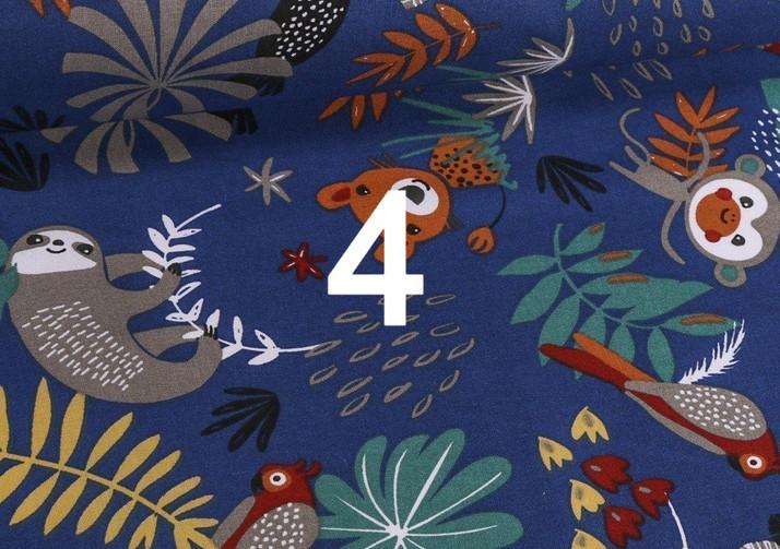 Tissu jungle bleu 4