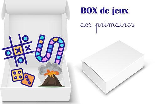 BOX de jeux à créer pour les PRIMAIRES