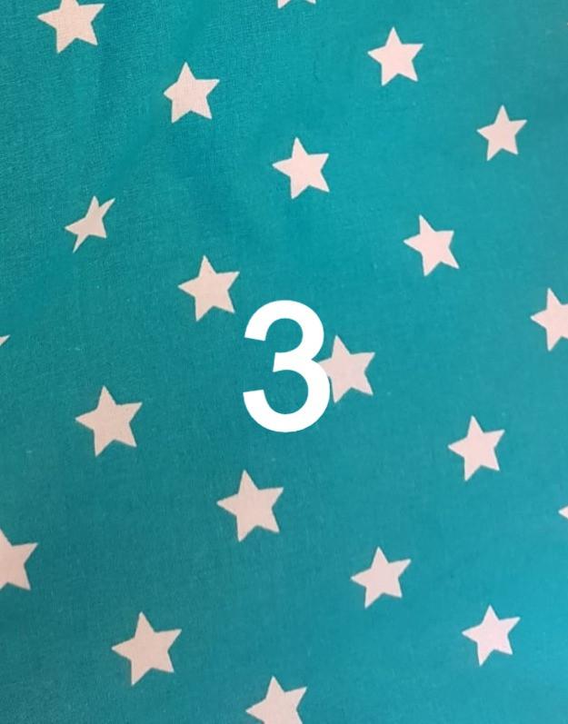 Tissu étoile vert 3