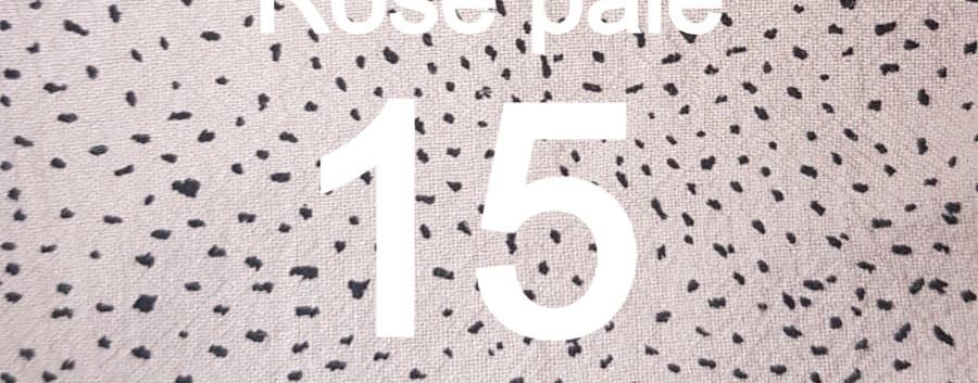 Tissu confetti rose pale 15
