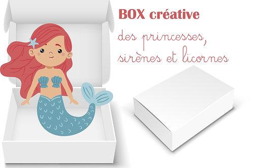 BOX CREATIVE MATERNELLE : Princesses, licornes et sirènes