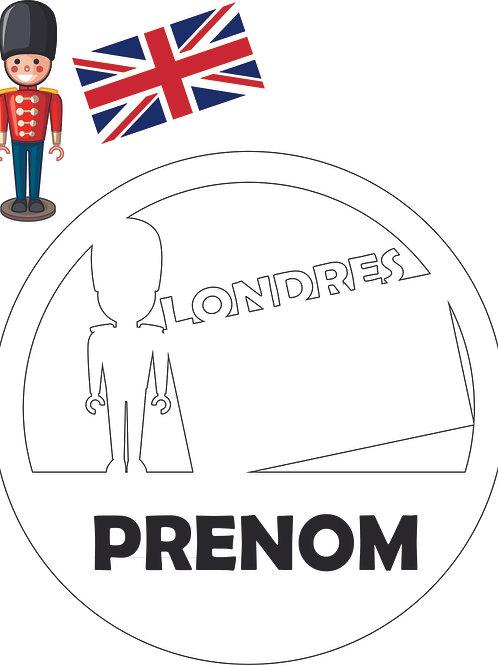 Plaque de porte : London