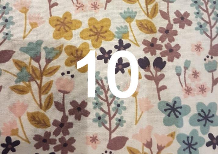 Tissu fleuri 10