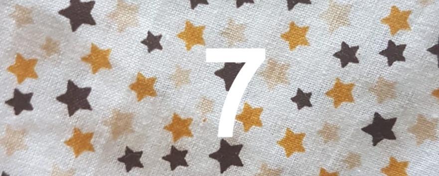 Tissus étoile jaune 7