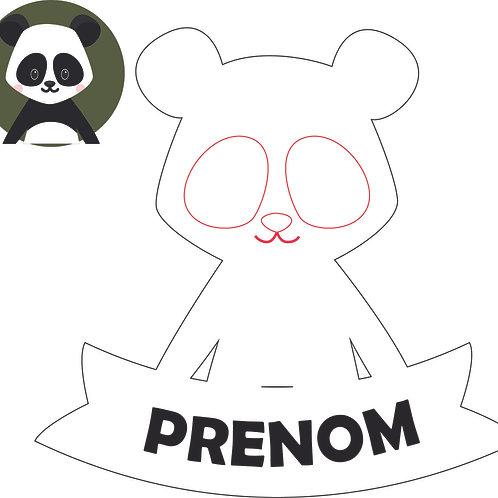 Plaque de porte : Panda