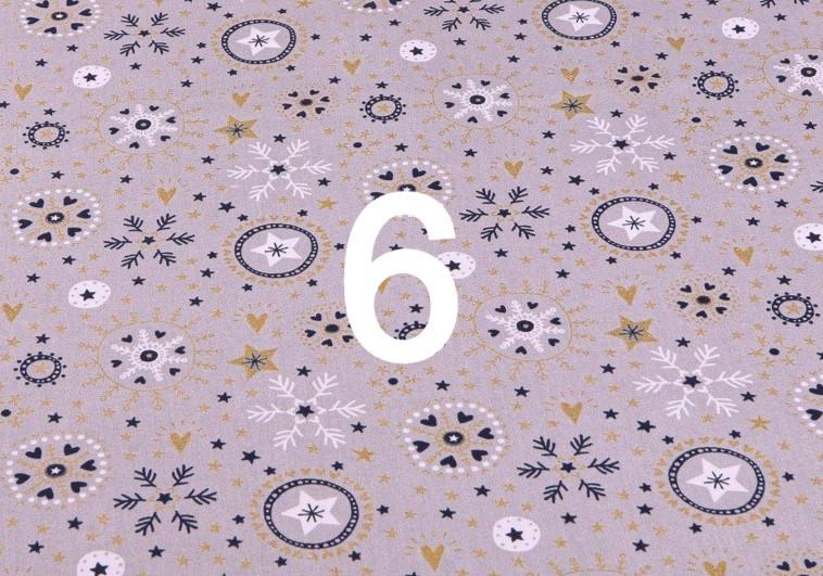 Tissu flocon 6