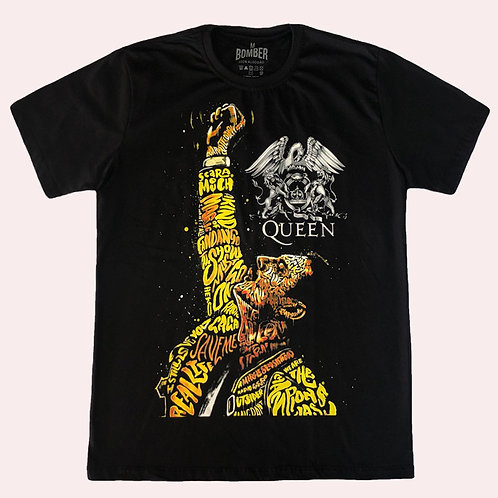 Camiseta Queen - Freddie Mercury - Bomber
