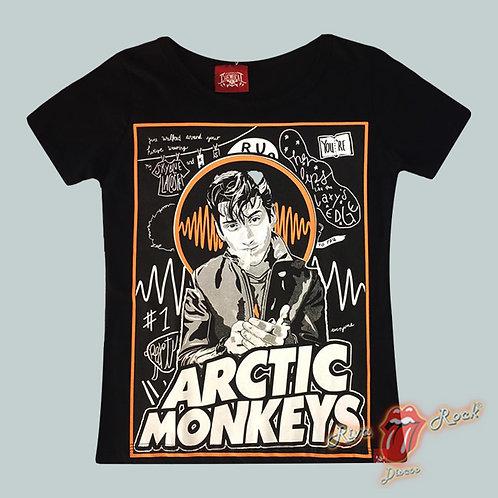 Camiseta Baby Look Arctic Monkeys - Alex Turner - Chemical