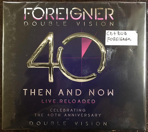 CD + DVD Foreigner - Double Vision: Then And Now Live.Reloaded - Lacrado