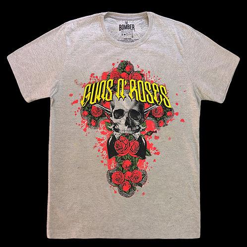 Camiseta Guns N' Roses - Cinza - Bomber