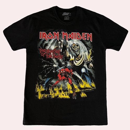 Camiseta Iron Maiden - The Number Of The Beast - Stamp