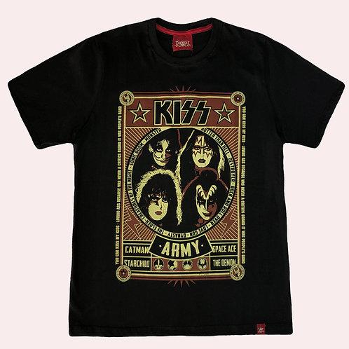 Camiseta Kiss - Army - Chemical
