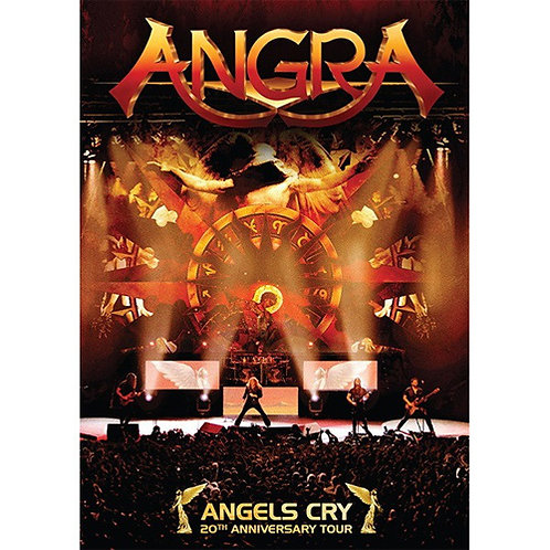DVD + CD Angra - Angels Cry - 20th Anniversary Tour - Lacrado