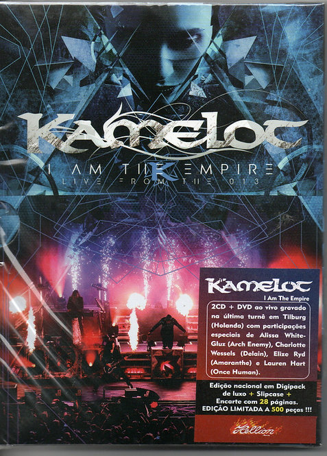 CD Duplo + DVD Kamelot - I Am The Empire (live From The 013) Digipack Lacrado