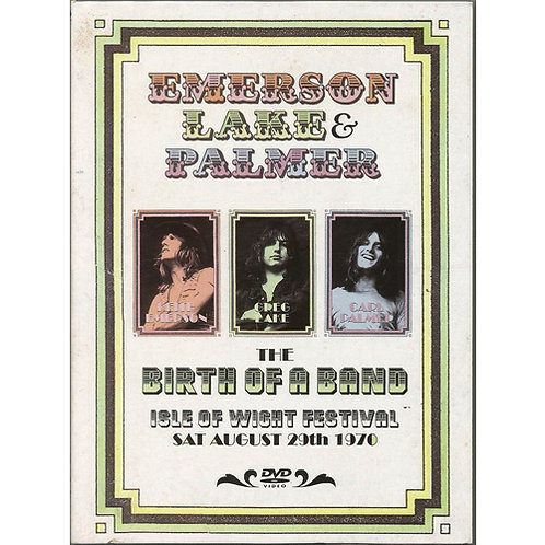 DVD Emerson, Lake & Palmer - The Birth Of A Band - Isle Of Wight Festival 1970